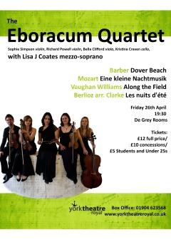 Eboracum Quartet and Lisa J Coates, April 27th 2013 at the De Grey Rooms, April 2013