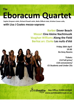 Eboracum Quartet and Lisa J Coates, April 27th 2013 at the De Grey Rooms, April 2013